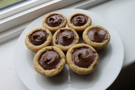 Mini Nutella Cookie Cups