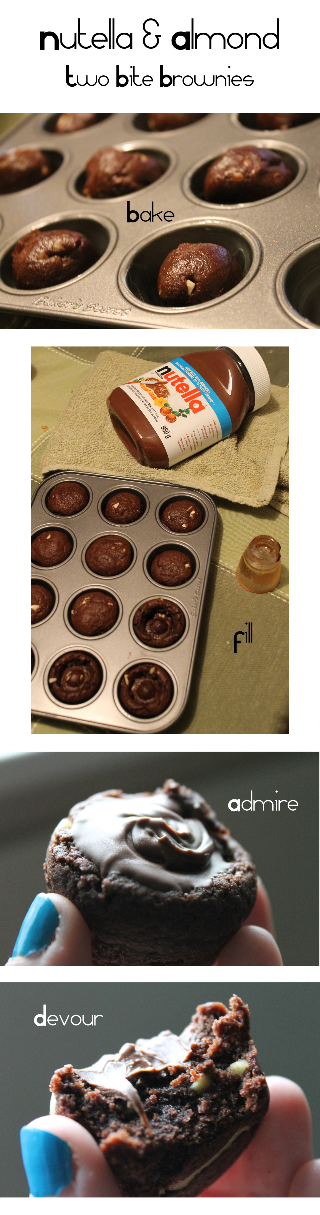 ... Archive » Recipe: Nutella Cookie Cups – Two Bite Brownie Edition